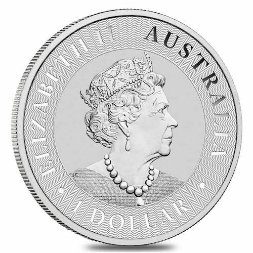 Australian 1oz silver coin back