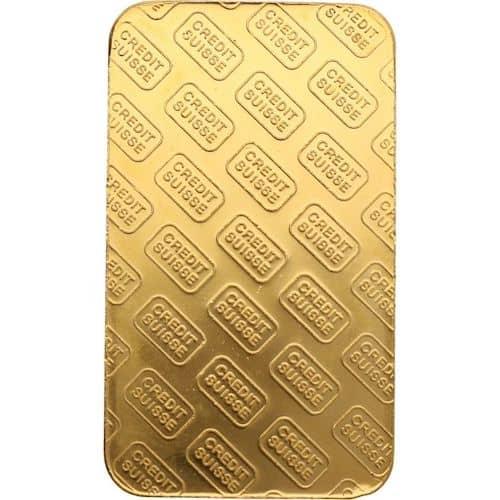 Suisse 10 oz gold bar back