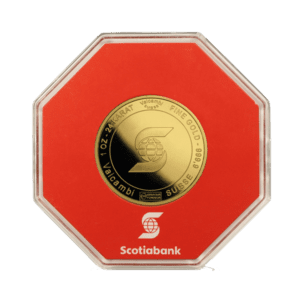 Scotiabank 1 oz Cased Gold Coin