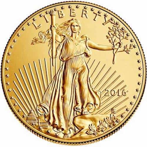 American eagle 1 oz gold coin back
