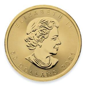 2021 Royal Canadian Mint 1 oz Gold Maple Leaf Coin