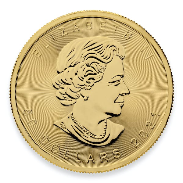 2021 Gold Maple Leaf Coin Back