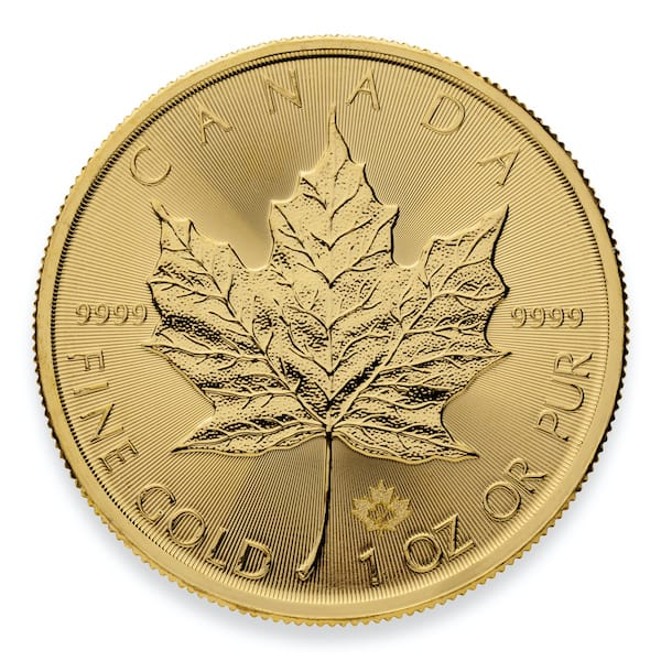 2021 Gold Maple Leaf Coin Front