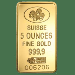 Assorted 5 oz Gold Bar