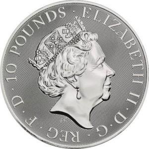 2021 Royal Mint Valiant 10 oz Silver Coin