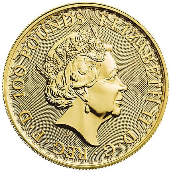 English Britannia Gold Coin Back