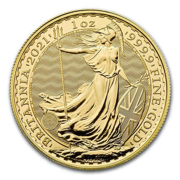 English Britannia Gold Coin Front