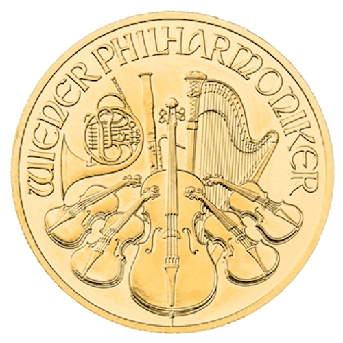 Philharmonic gold coin front