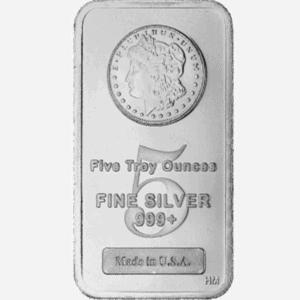 Assorted 5 oz Silver Bar