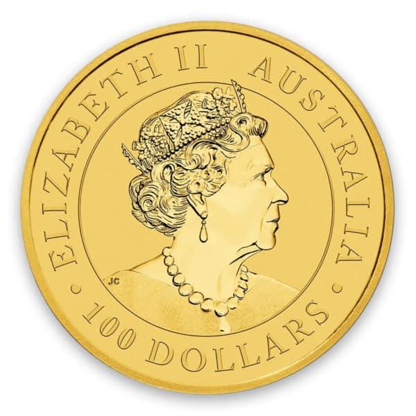 Australian Kangaroo 1 oz Gold Coin Back