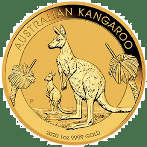 Australian Kangaroo 1 oz Gold Coin Front