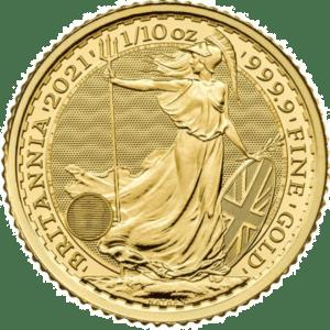 2021 English Britannia 1/10 oz Gold Coin