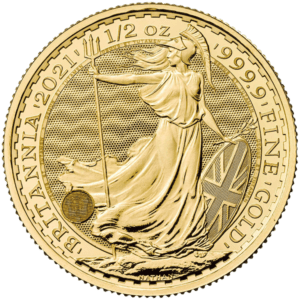 English Britannia 1/2 oz Gold Coin