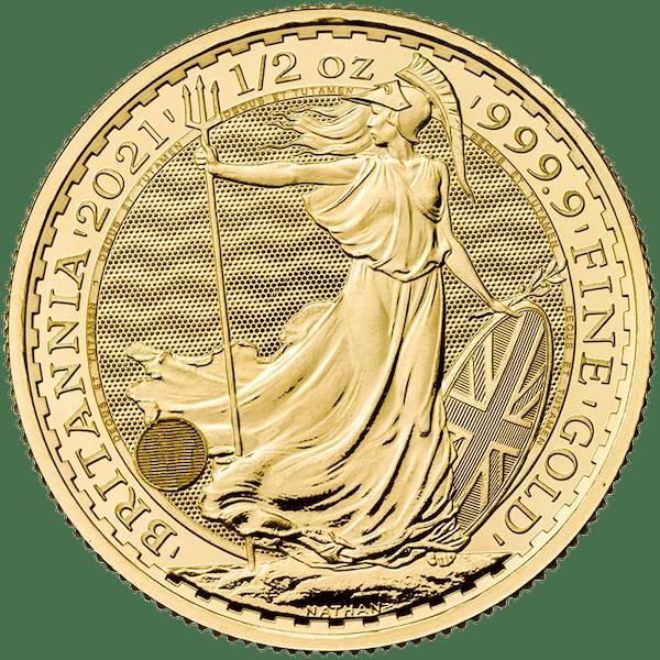 1/2 oz Gold English Britannia