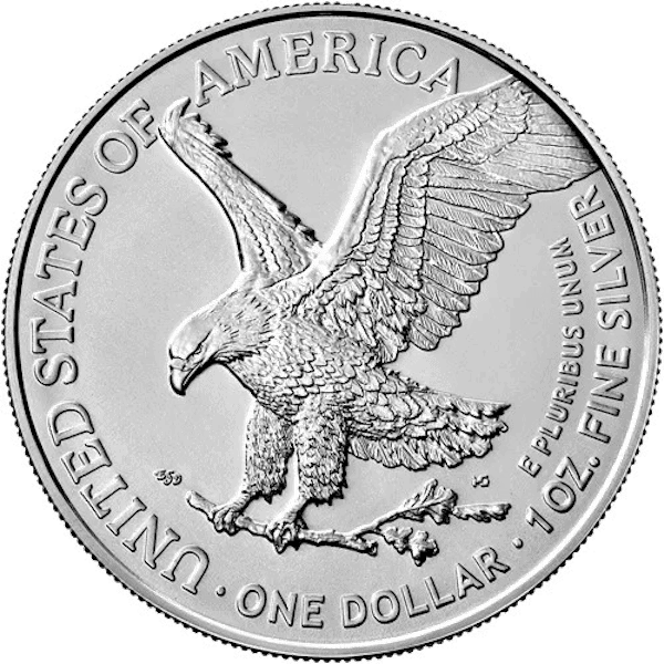 American Silver Eagle Type 2 Back